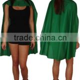 Emerald Green Superhero Fancy Dress Cape with any Colour Mask Cosplay Cloak CCP2028