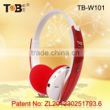 Wireless earmuff FM AM radio and mp3 player headphones / headsets with TF / MicroSD card TB-W101