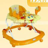 Plastic Baby Walker/Carrie with Cotton Backrest Foldable&Detachable round baby walker