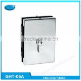 Patch fitting clamp for glass door,lock fitting center lock aluminum core polish finished