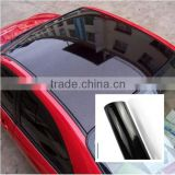High glossy black pvc self-adhesive removable car roof cover fabric vinyl