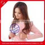 fashion design women maternity clothing, high quality breastfeeding top with embroidered