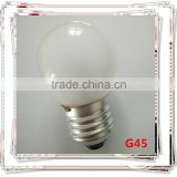G45 220-240V 18w28w42W E27 halogen tungsten lamp frosted bulb