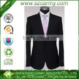 Men's Black and Silver Grey Liner Super Good Quality One Button Slim Cut Easy-Care wedding suits pictures