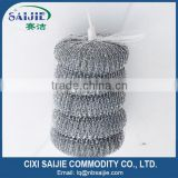 kitchen cleaning galvanized mesh scourer in net bag packing