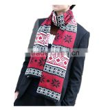Men winter 5color choice fashion wear long unisex beautiful pattern printed warm knit scarf for men