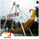 Outdoor amusement swing rides viking ship ride trailer mounted for sale