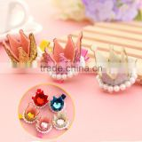 Big Rhinestone Simulated Pearl Round Bling hairpins Children Tiara Baby Girls Hairpins Hair Accessories for Women Headwear