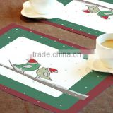 2016 New color printing Phthalates Free kitchen bamboo table mat