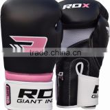 Ladies Pink Gel Boxing Gloves Bag MMA Womens Gym Kick Pads Mitts C