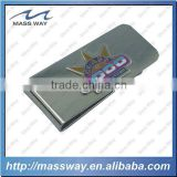 high quality custom silver etched enamel brass money clip