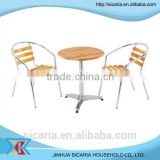 outdoor furniture wooden dining table set