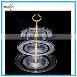 High Quality 3tier Trays Glass Dishes Plates Glass Serving Platters Cup Cake Stand                                                                         Quality Choice