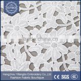 Garment Women Cloths Flower Pattern White Cotton Indian Chemical Lace Embroidery Fabric