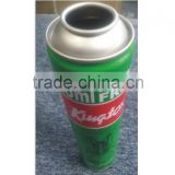 Empty neck-in aerosol tin can for car care aerosol products with 4 color Diam.52 mm aerosol tin can
