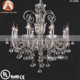 8 Light Crystal Chandelier Candle Holders with Clear Crystal