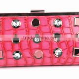 New product bright color heavy jewelly clutch bag