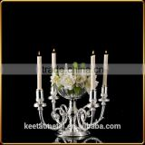 Cold Rolled Steel Nickel Plated 4-lite Candle Holder Input Taper Candle in Nickel Plated -Silver And Gold finishing