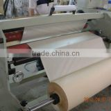 crepe paper machine with rubber glue for decoration and painting MT-140