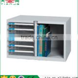 TJG A4G-206P Plastic Transparent Drawer Office 6 Drawers Furniture Filing File And Book Cabinet