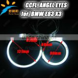 9-16V DC CCFL car headlights angel eyes halo ring for BMW E83 X3 with red blue green yellow orange purple white colors