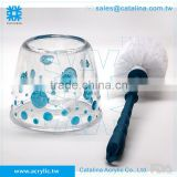 3D Bubble Fish Pattern Blue Toilet Brush Lotion Dispenser Toothbrush Cotton Jar Soap Dish Tumbler Glass Bathroom Supplies