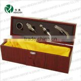 4pcs Cherry Wood Wine bag Box Bar Accessories Tools