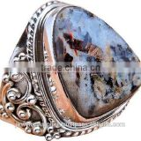 Appealing Blue Lapis Wholesale Jewelry Wholesaler Natural Gemstone Silver Jewellery Rings