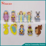Set of 10 Pcs Cartoon Cute Jesus Angels Kids Magnets For Fridge Refrigerator