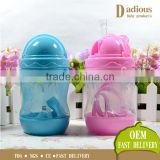 Fashion plastic material hot selling baby training drinking cup bottle