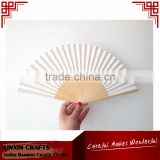 advertising bamboo folding paper fans customized