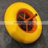 top quality competitive price yellow color cheap 14 inch 3.50-8 pu foam wheel barrow tyre