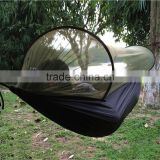 Camping 2-Person Anti-mosquito Parachute Nylon Hammock 200KG Loading 290 x 145cm Unfolding Size Sleeping Hammock Travel Kit