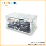 Jewelry and Cosmetic Storage Display Box , Clear Acrylic Three Drawer Cosmetic Organizer Makeup Case Holder Storage Box