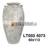 Vietnam Round High Decorative Ceramic Ancient White Flower Vase