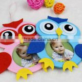 Latest design good products beautiful felt owl animal shape baby 12 month photo picture frame for wedding home decor new models