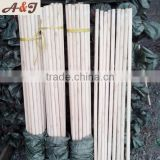 Good Treatment finished italian screw broom sticker /painting wood pole Plain bottom end