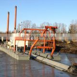 Diesel engine cutter suction dredging machine