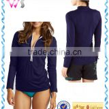 100% cashmere half-zip sweater sexy ladies' rashguard breathable training top half-zip top