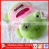 Customed lovely high quality frog toy plush phone holder
