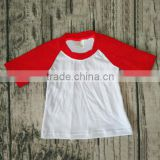 Children Cotton Designs red with white raglan T-shirts latest shirt designs for baby