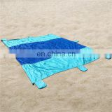 LOW MOQ Cheap Camping Folding Sandless Picnic Beach Mat Huge Family Size 9x7FT Compact Outdoor Nylon Parachute Beach Blanket