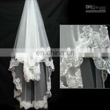 On Sale! Best-selling High Quality Lace Edge Single Layer Wedding Lace Veils Bridal Veils