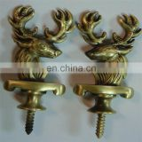 High fashoin 3d antique brass custom animal deer shape souvenir