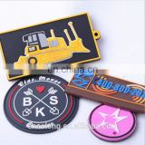 custom embossed branded logo rubber patch,cloth label and tags,soft pvc garment labels