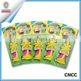 Promotional paper car air freshener with fragrance