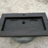 Blue Limestone Bathroom Wash Sink Natural Stone Console Sink
