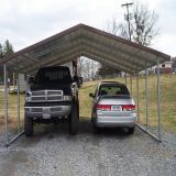 Rain protect canopy galvanized steel frame carport and garage building shed for car