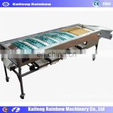 Factory Price Automatic Mango Grader Machine orange/lemon fruit washing waxing drying sorting machinery/production line