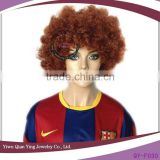 cheap short synthetic afro curly brown wigs